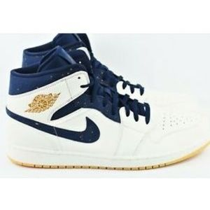Nike Air Jordan 1 Mid Derek Jeter Size 15 Shoes